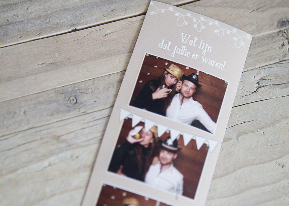 fotostrip als bedankje voor bruiloft
