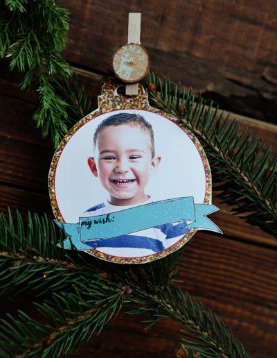 gepersonaliseerde kerstbal uit fotobooth