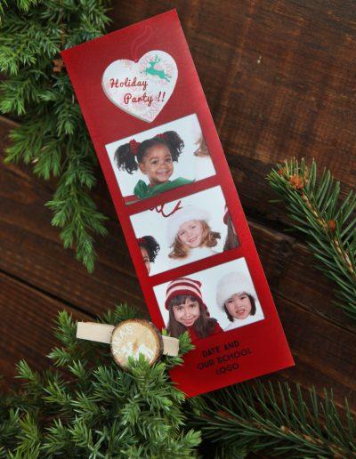 kerstmis kinderen fotobooth strip met drie fotos